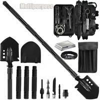 Military Survival Folding Shovel Gear Kit Outdoor Tactical Emergency Mutiltools