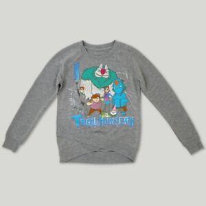 Trollhunters Girl Gray Criss Cross Waist Sweatshirt 4-5, 6-6X, 7-8, 10-12, 14-16