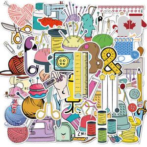 50 PCS Cartoon Sewing machine Waterproof Sticker DIY Suitcase Graffiti Stick^dm