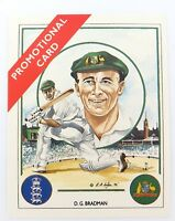 ".c1992 SCARCE DON BRADMAN TRADING CARD ""ASHES WINNING CAPTAINS"" PROMOTIONAL CARD"