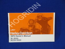 new 1975  AMF Harley Davidson sportster xl 1000 xlch owners manual