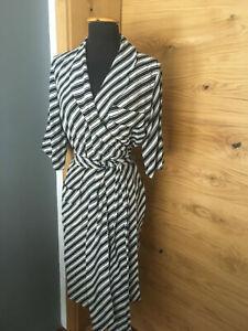 Original Seiden Kleid RENA LANGE Seide Dress Silk Striped