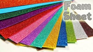 A4 Glitter Foam Sheet Craft Funky 2mm Thick Birthday Valentines Day Gift Wrap