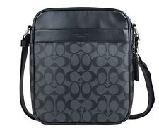 Coach Men's Flight Bag In Signature PVC Crossbody Bag F54788 Charcoal/Black NWT