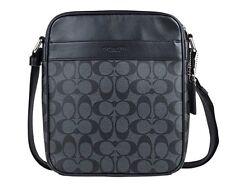 Coach Men's Flight Bag In Signature PVC Crossbody Bag F54788 Charcoal/Black NWT