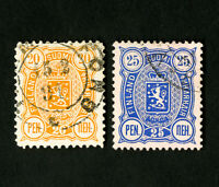 Finland Stamps # 52-3 Superb Set of 2 Used Very Nice Stamps Catalog Value $45.00