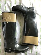 Hunter Boots Regent Carlyle Black/Beige Women's Size 10–Pre-Owned