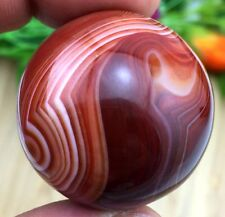 35MM Beautiful Natural Madagascar Banded agate Ball Crystal Sphere Healing+Stand