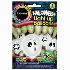 Light Up Halloween Balloon Ghost 5pk