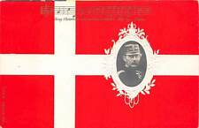 Denmark ~ Country'S Flag, King Christian Ixi'S Image & Music Pc ~ c. 1902