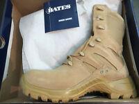 "Bates Mens M-8 Military Boots Desert tan 01450 8"" size 8 EW"