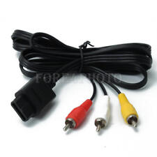 Black Audio Video TV AV RCA Cable Cord Wire for Nintendo WII N64 NGC SFC/SNES