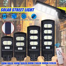 200/400/800/1000W LED Solar Street Light PIR Motion Sensor Wall Lamp Outdoor **