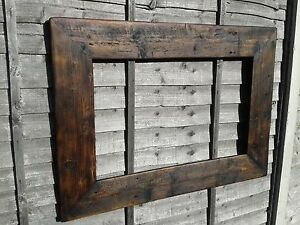 Huge Rustic Reclaimed Jacobine Wood Frame For A1 Picture Canvas Photo Christmas