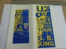 U2 - BILLET DE CONCERT  - TICKET ORIGINAL COFFRET COLLECTOR - RARE -  PARIS 1989