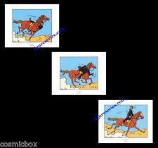 Lot 3 Ex-libris TINTIN COKE en STOCK planche affiche Haddock cheval figurine BD