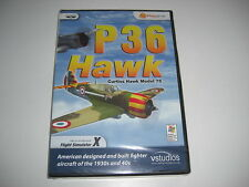 P36 Hawk Curtiss Hawk Modelo 75 PC Add-On Flight Simulator Sim X FSX-Nuevo Sellado