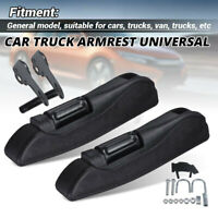 2x Universal Adjustable Car Truck Armrest Seat Arm Console Clamp w/ Large Brack