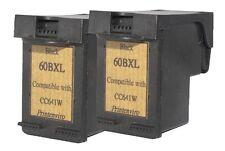Printenvro Reman Ink Cartridge for 2 HP 60XL Black CC641W for  D2560 D2660 D5560
