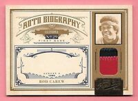 2011 Playoff Prime Cuts Auto Biography #9 Rod Carew 2 Color Prime Patch #3/5