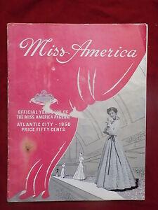 1950 Miss America Pageant Program Atlantic City Yolande Betheze