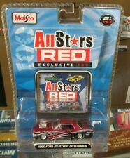 Maisto Pro Rodz 65 Ford Mustang All Stars Red Notchback Street Drag 1965 1/64