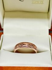 Clogau Rose Gold Celtic Annwyl Band Ring Size M