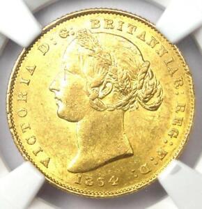 1864 Australia Victoria Gold Sovereign Sydney Coin 1S - NGC MS61 (BU UNC)