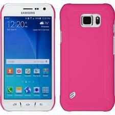 Funda Rígida Samsung Galaxy S6 Active - goma rosa caldo + protector de pantalla