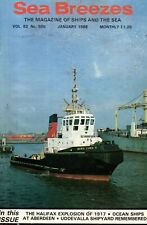 SEA BREEZES MAGAZINE (January 1988) UDDEVALLA SHIPYARD - ABERDEEN PORT - HENGIST