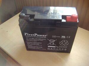 12V 18Ah  Akku  Blei Batterie Rasen Aufsitzmäher 18Ah Firstpower bis 2025
