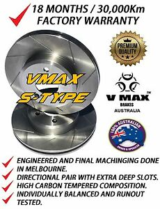 SLOTTED VMAXS fits FORD F150 4WD 1994-1996 297mm FRONT Disc Brake Rotors