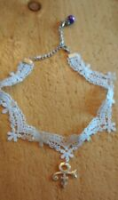 Prince Rogers Nelson Love Symbol Lace Necklace/Choker With Adjustable Chain