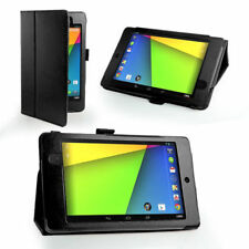 Black Stand Folio Wallet Leather Case Cover for Asus Google Nexus 7 2 +Film Kit