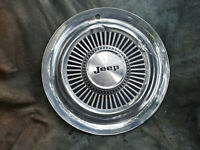 """1 OEM 60-80's JEEP 15"""" STAINLESS STEEL ALL METAL HUBCAP 4X4"""
