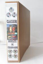 CLASSEUR AVEC 5 PLATEAUX DE RANGEMENT POUR MUSELETS DE CHAMPAGNE