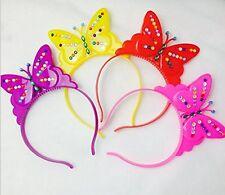 8 PCS LED Flashing Light-Up Butterfly Girls Headband Multicolored party birthday