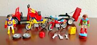 Playmobil 3754 Red Jeep With Trailer, Dirt Bikes Vintage Motorcross