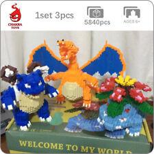 Pokemon Charizard Venusaur Blastoise DIY Mini Diamond Blocks Building Toy 3pcs