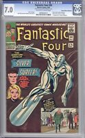 FANTASTIC FOUR #50 - CGC 7.0 - 1966 / SILVER SURFER / HARLAN ELLISON COLLECTION