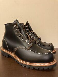 Red Wing Heritage 9878 Black Klondike Irish Setter Moc Toe Boots Lug 9E USA 1st