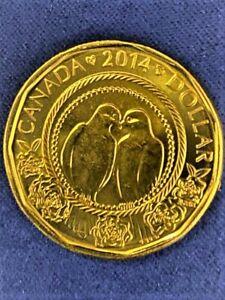 """BU UNC Canada 2014 $1 dollar loonie """"Wedding"""" original sealed from mint set"""