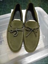 Coach Jasper Suede Driving Loafers Shoes Dark Sage Green Men's 11 D