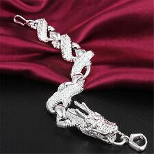 925 Sterling Silver plating New Men Women's bracelet Fashion Jewelry gift S24