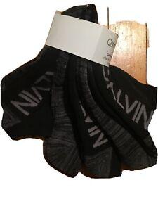 CALVIN KLEIN 6-Pair Women's Cushion No Show Socks BLACK Size 7-12~ Super COMF
