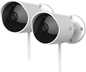 YI 2pc Outdoor Security Camera 1080P IP Waterproof Night Vision Surveillance