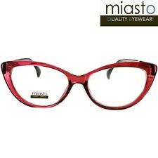 NWT$39.99 MIASTO THICK CAT EYE T READER READING GLASSES+3.00 COLOR RED (MEDIUM)