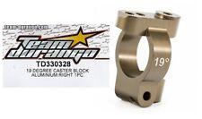 RC Team Durango TD330328 19Degree CASTER BLOCK ALU DEX410 DEX410R v3 v4 v5 Buggy