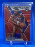 2019-20 Julius Erving Panini Mosaic Tmall HALL OF FAME RED WAVE PRIZM #288 76ers