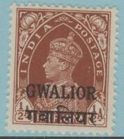 INDIA GWALIOR STATE 91 MINT HINGED OG * NO FAULTS EXTRA FINE !.